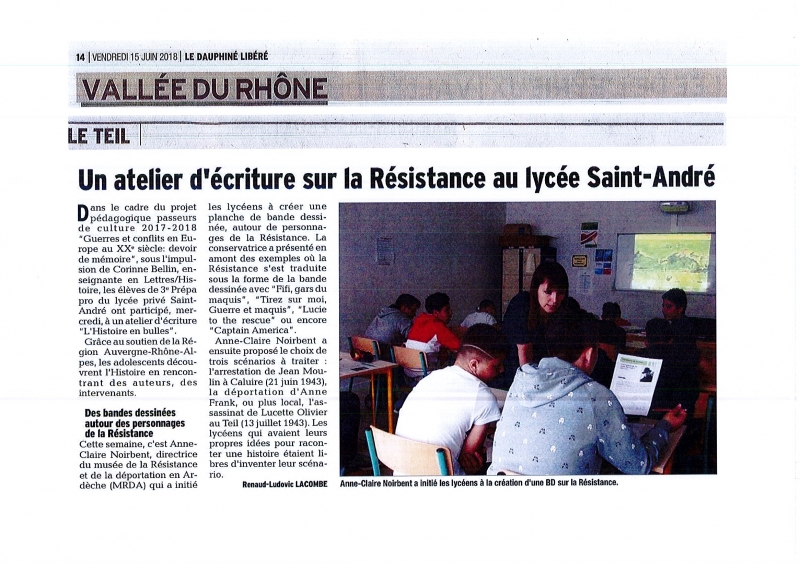 Au lycée St André au Teil