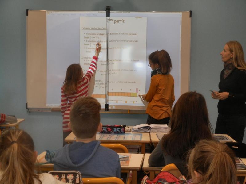 Un équipement numérique à l'école St Eulalie à Guilherand Granges.