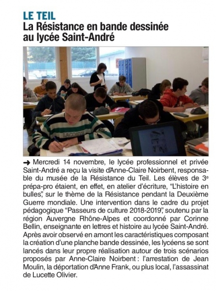 L'HISTOIRE EN BULLES AU LP SAINT ANDRÉ - LE TEIL