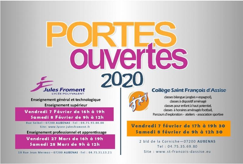 Portes ouvertes 2020 - AUBENAS