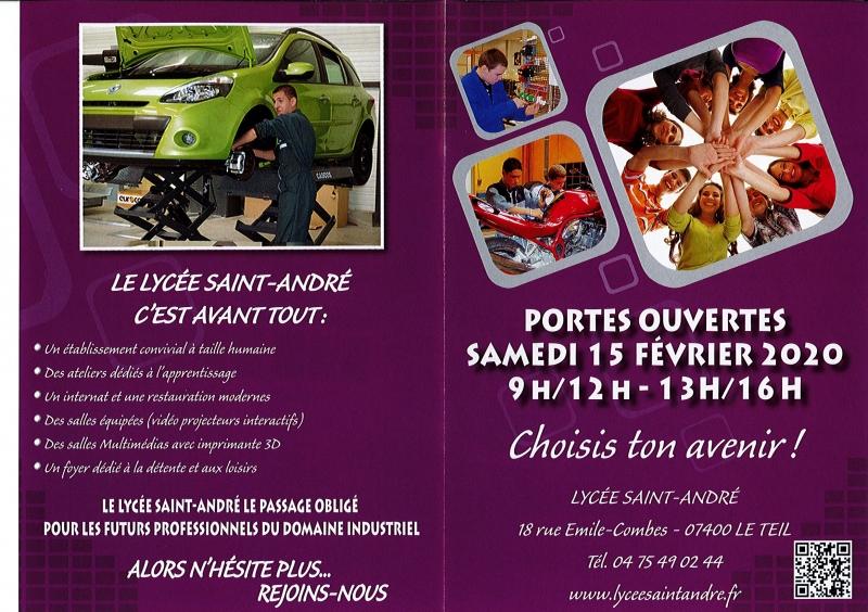 Journée PORTES OUVERTES - Lycée Saint André Le TEIL