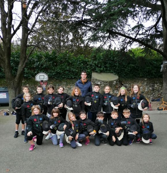 Les petits mousquetaires de l'école Saint-Joseph de St-Just d'Ardèche