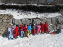Une sortie raquette pour l'école Saint Joseph de St Fortunat