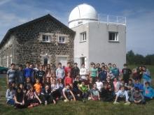 Des élèves de 5e du collège St Louis de Tournon en visite à l'observatoire Hubert Reeves à Mars