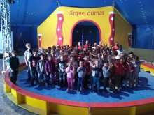 Activités cirque pour les élèves de l'école St Joseph à Cornas et l'école St Pierre à Glun