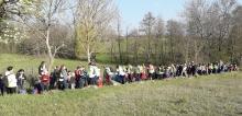 Le vendredi 12 avril, les élèves de l'école Saint Joseph de Quintenas ont effectué un pèlerinage à Notre Dame d'Ay.
