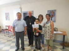 premier prix à un concours départemental d'Arts plastiques pour l'école ST Régis