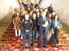 Visite du sénat d'une classe de 3eme - Collège St-Louis TOURNON