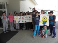 Peaugres : l'école catholique décore la cantine communale