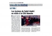 Visite de la Cité Blanche VIVIERS  - LP Saint-André LE TEIL
