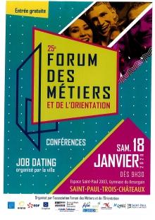 25e Forum des Métiers et de l'Orientation