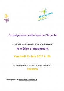 L'enseignement catholique de l'Ardèche organise une réunion d'information sur le métier d'enseignant