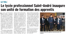 Le lycée professionnel Saint André inaugure sont unité de formation des apprentis