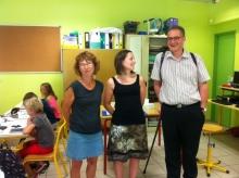 Le nouveau Directeur Diocésain visite l'école Sainte Eulalie