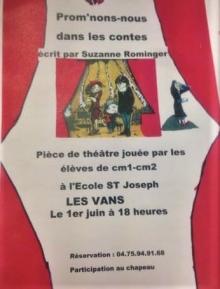 Ecole Saint Joseph les VANS - Pièce de théâtre