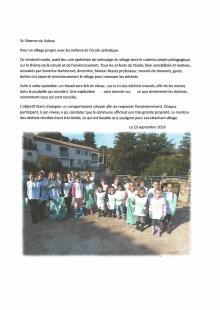 Pour un village propre avec les enfants de l'école catholique
