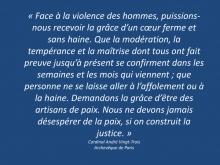 Face à la violence des hommes,